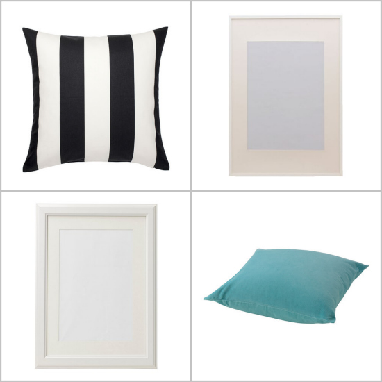 ikea pillows and frames