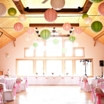 pink+and+green+wedding+reception