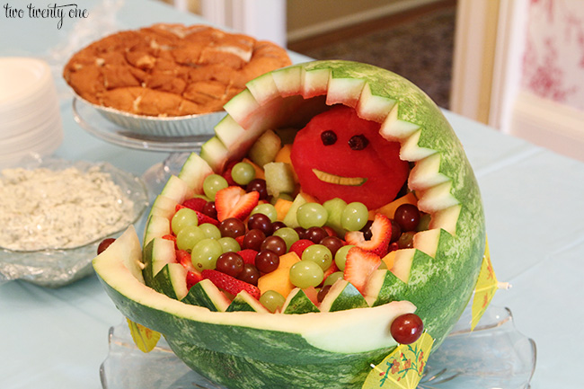 Salad decoration for Baby shower fruit decoration ideas