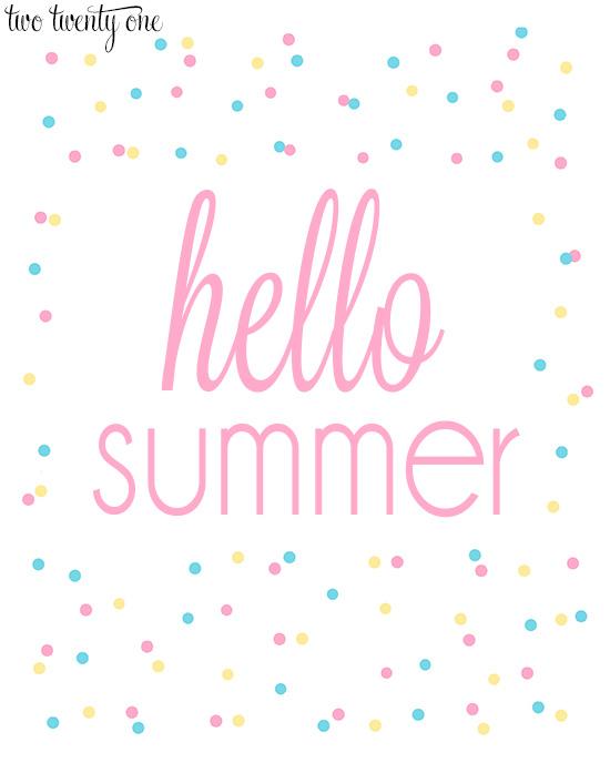 hello summer 8x10 print-- pink