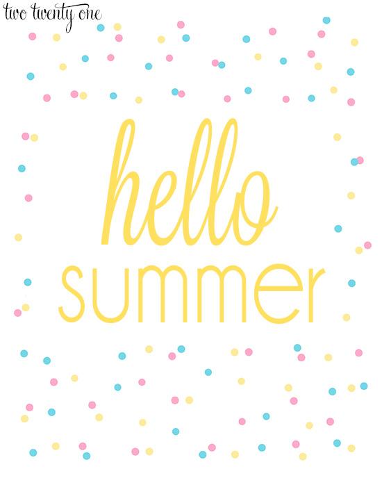 hello summer 8x10 print-- yellow