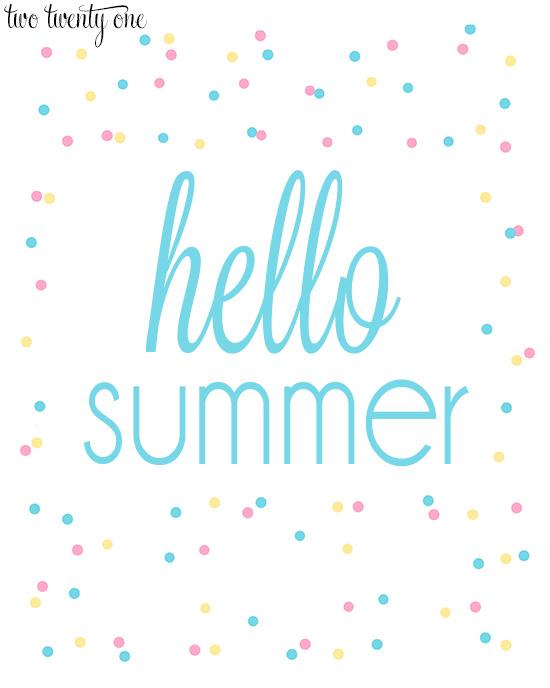 hello summer 8x10 print