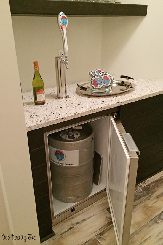 Kitchen Island Kegerator home-a-rama part two