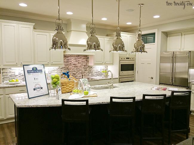 White kitchen with dark accents