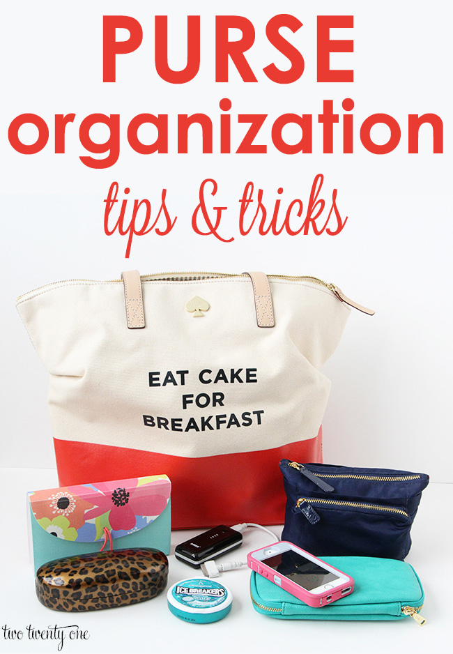 Purse organization tips and tricks!