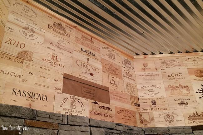 wine room walls
