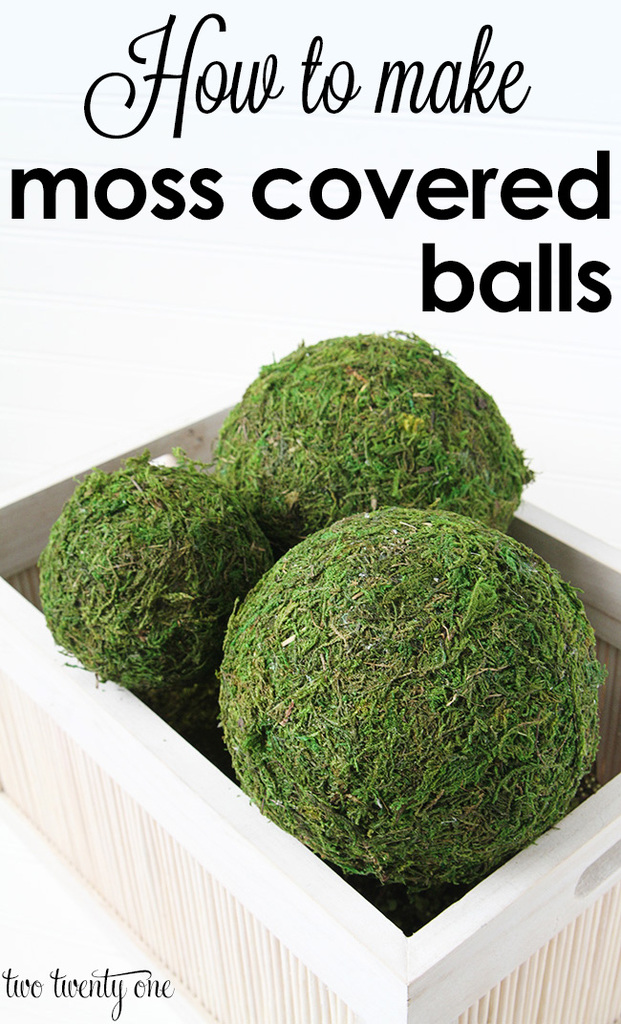 How to make moss covered balls!