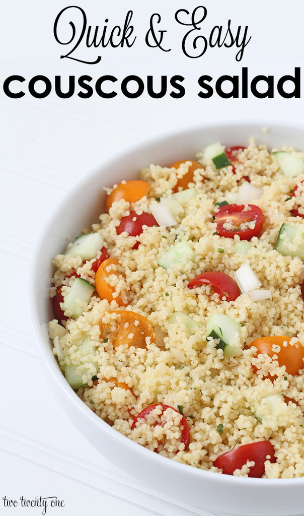 Quick and easy couscous salad!  Ready in minutes!