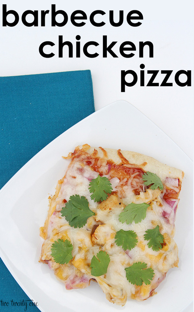Easy barbecue chicken pizza!  Only 5 ingredients!