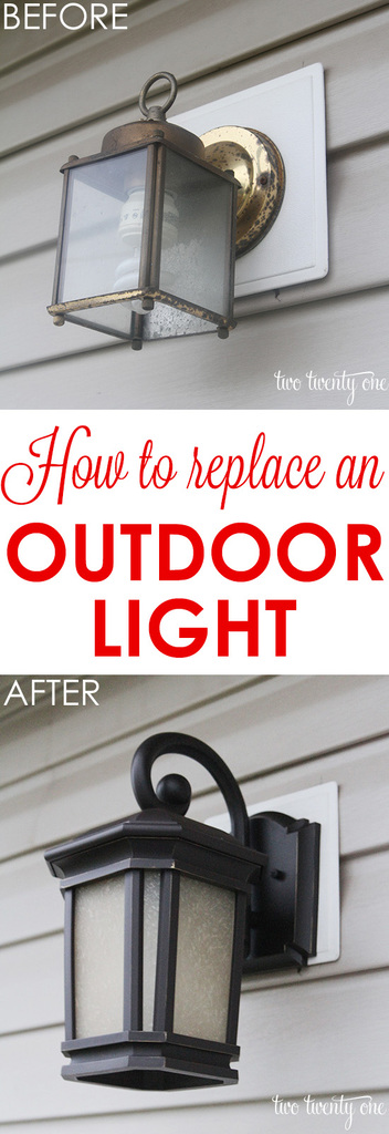 how to replace an outdoor light it 39 s easier than you think
