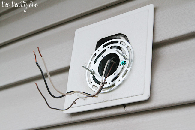 how to replace outdoor light