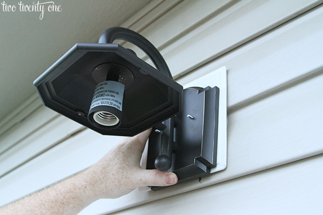 install outdoor light