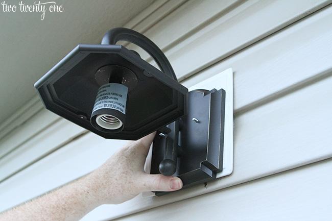 install outdoor light