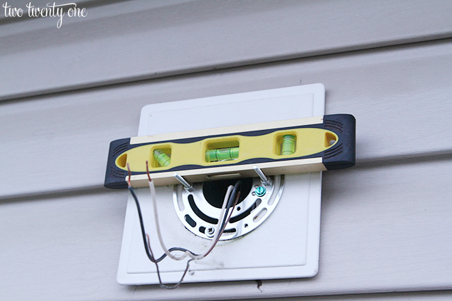 installing outdoor light