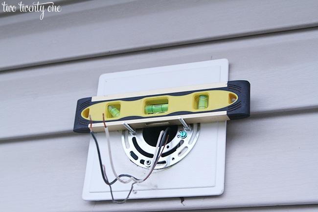 installing outdoor light