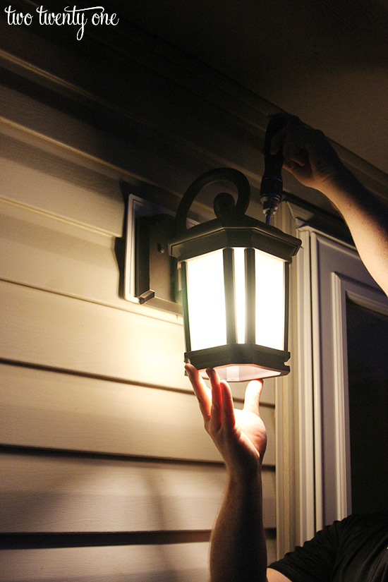 replace outdoor light