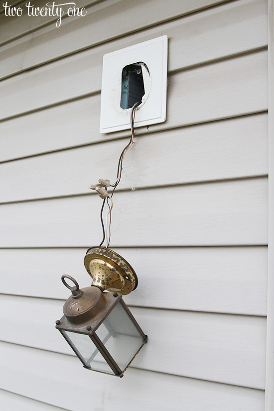 replacing outdoor light