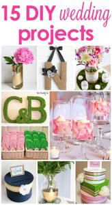 15 DIY Wedding Projects! GREAT ideas and tutorials!