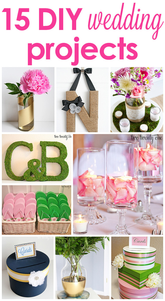 craft ideas for wedding decorations 15 diy wedding projects 3158