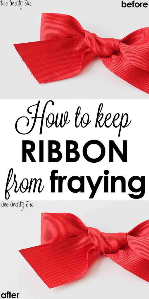 How to keep ribbon from fraying!