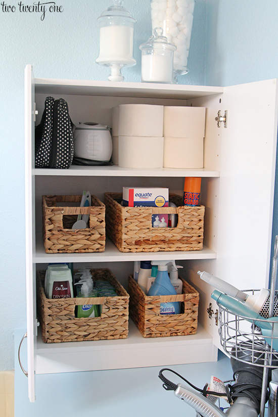 Added master bathroom storage How to organize bathroom