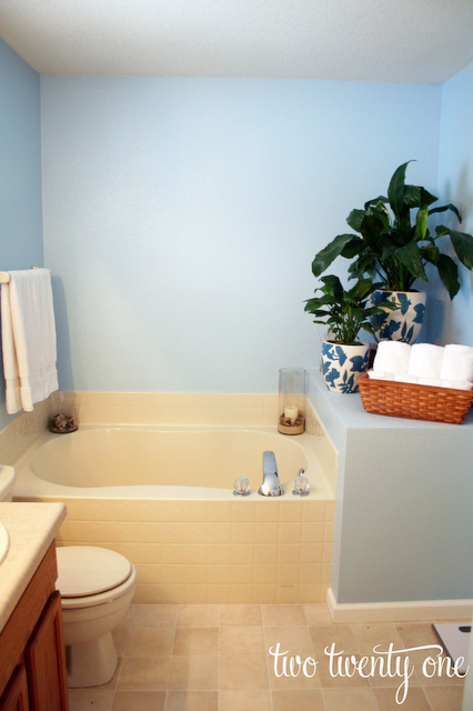Master Bathroom Refresh - Colored bathroom fixtures