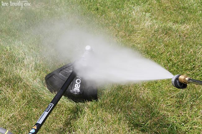 pressure washing lawn equipment