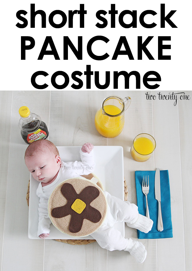 DIY short stack pancake costume! Less than $10 to make!