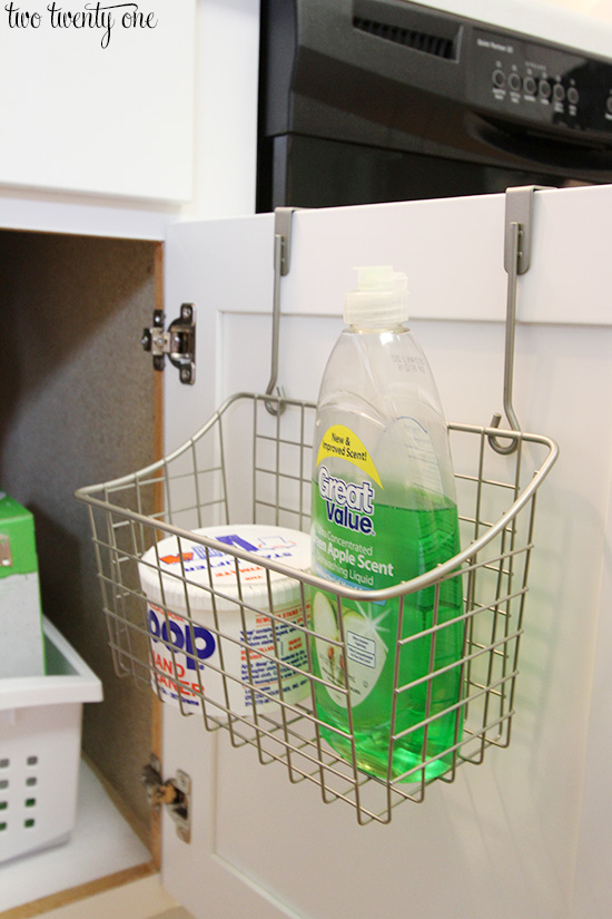 Perfect under kitchen sink organization