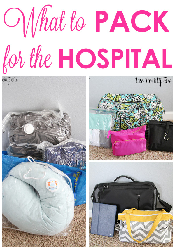 GREAT tips on what to pack for the hospital!