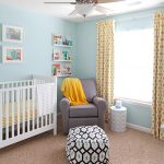 blue and yellow nursery