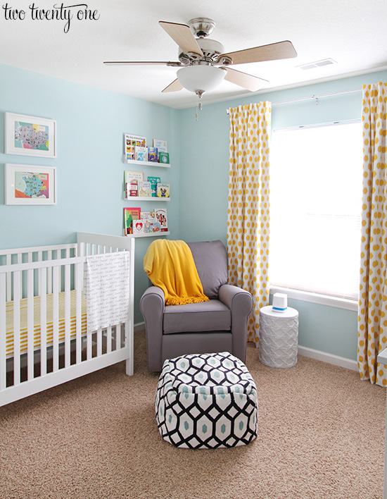 Blue And Yellow Nursery