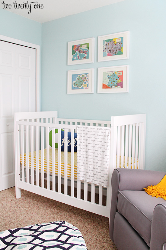 colorful boy nursery