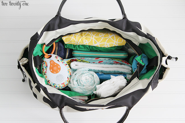diaper bag organization