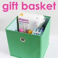 Fun and practical baby gift basket idea!