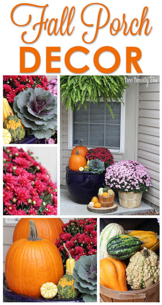 Fall front porch decor!