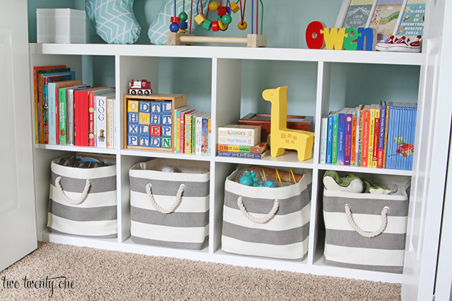Nursery closet Closet toy storage ideas