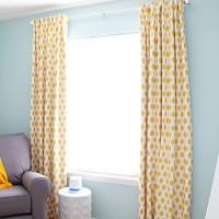 jo jo corn yellow slub curtains
