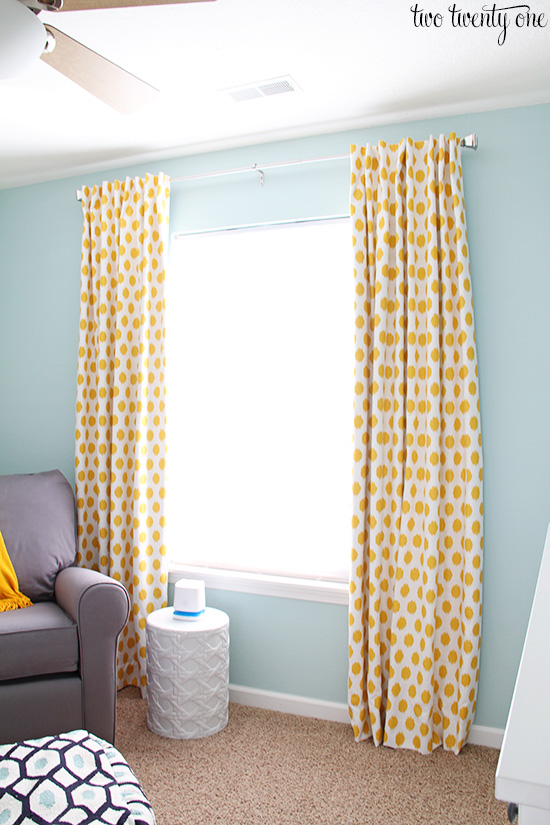 Jo Corn Yellow Slub Curtains