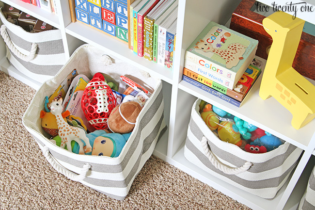 land of nod storage bin & Baby Organization Tips