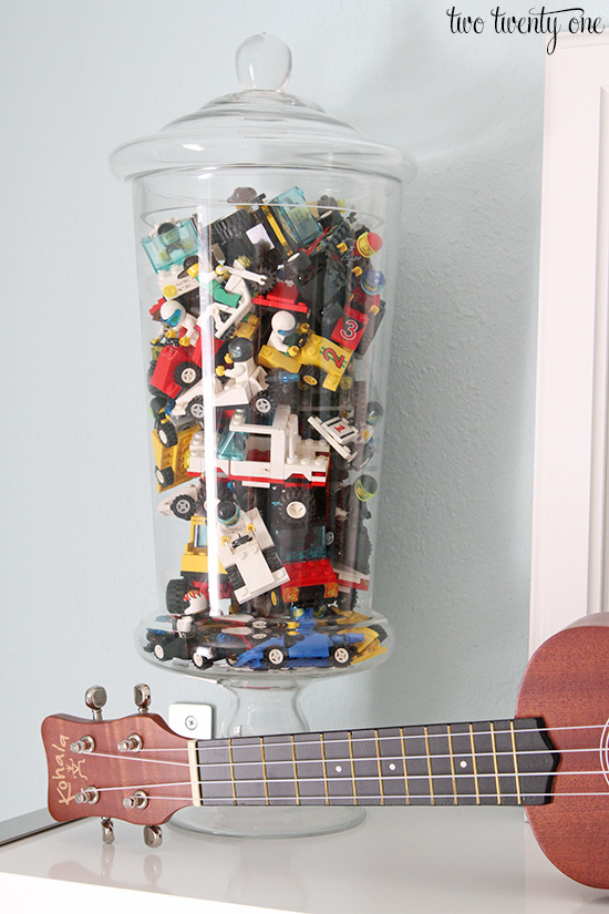 legos in apothecary jar