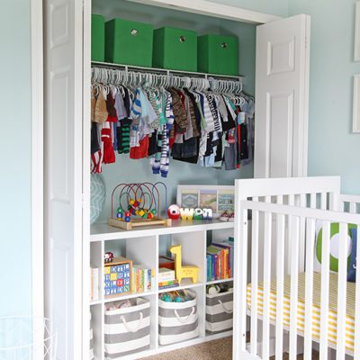 Nursery Closet – Organization Tips and Tricks