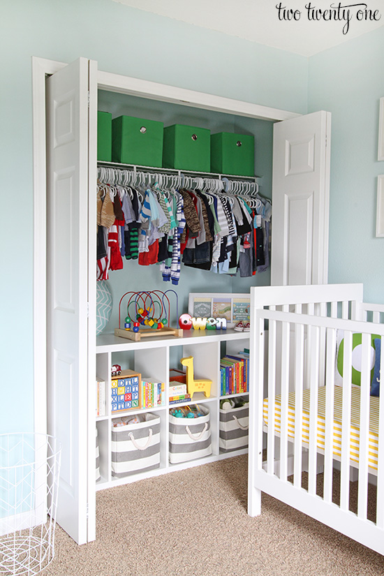 Organized Nursery Closet Love This