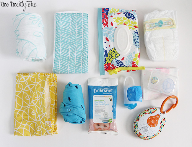 organized diaper bag