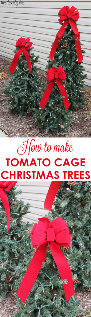 Tiered Tomato Cage Christmas Trees Two Twenty One