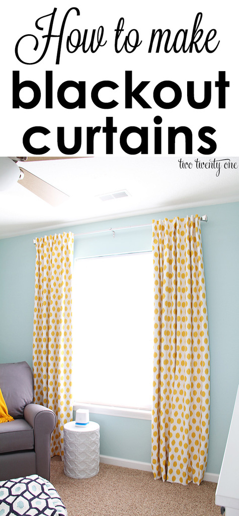 How to make tab top curtains - How To Make Blackout Curtains
