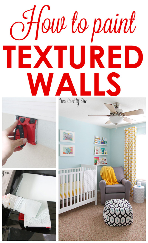 How to paint textured walls!  GREAT tips and tricks!