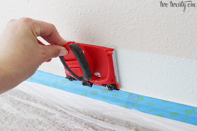 how to paint textured walls