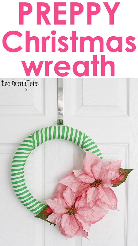 Preppy Christmas wreath!