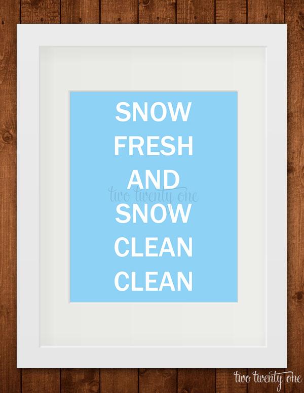 snow fresh snow clean